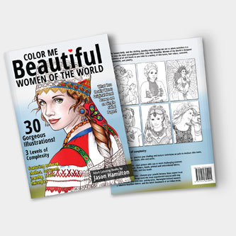 Color Me Beautiful, Women of the World Coloring Book