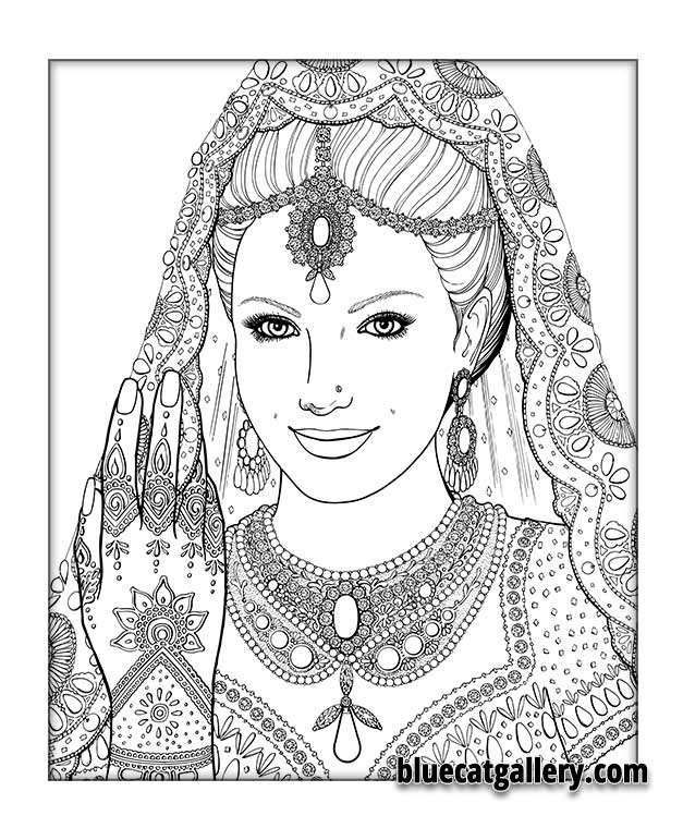 color me beautiful women of the world adult coloring book pattern for adults coloring pages phoenix coloring pages - Coloring Pages For Women